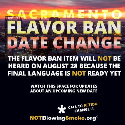 Sacramento Flavor Ban