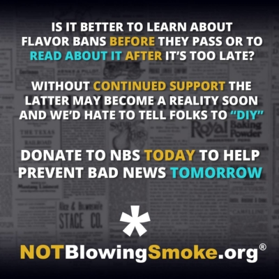 Donate to Not Blowing Smoke