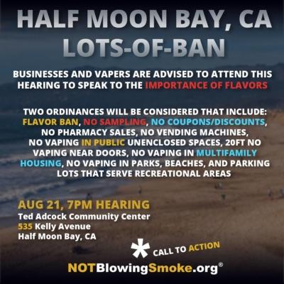 Half Moon Bay Flavor Ban
