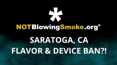 Saratoga Flavor Ban
