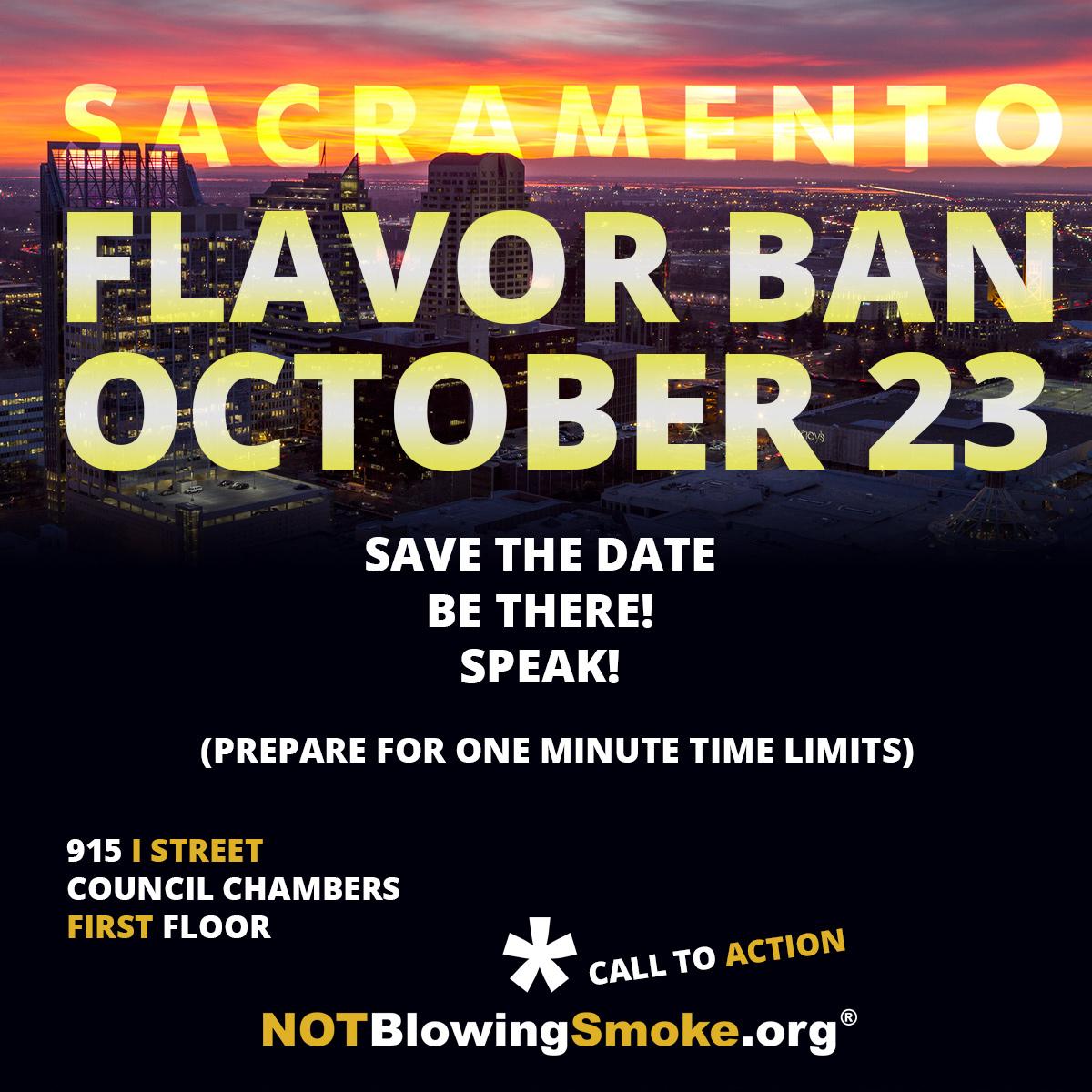 sacramento flavor ban date announcement not blowing smoke