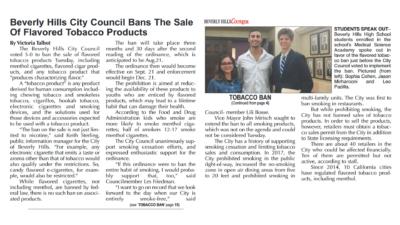 Beverly Hills Bans 0-nicotine