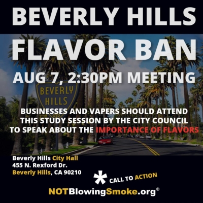 Beverly Hills Flavor Ban Meeting